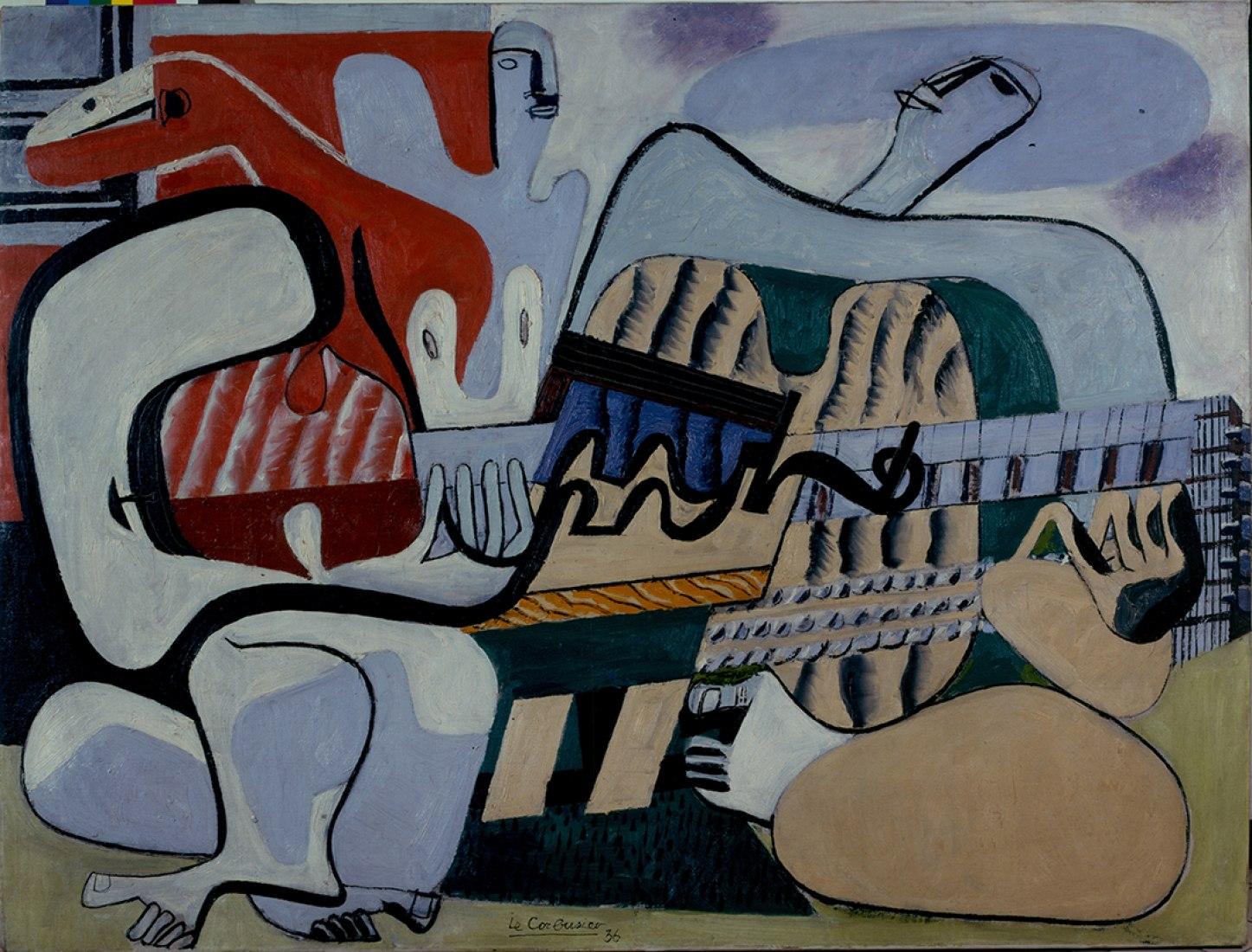Tres músicos, Le Corbusier. Exposición Le Corbusier: Medidas Humanas, en el Centro Pompidou. Imagen © FLC, ADAGP, Paris 2015. Imagen cortesía del Centro Pompidou.