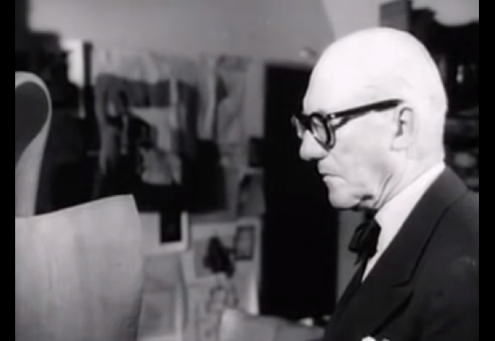 Rare film of Le Corbusier in his Paris home and studio.