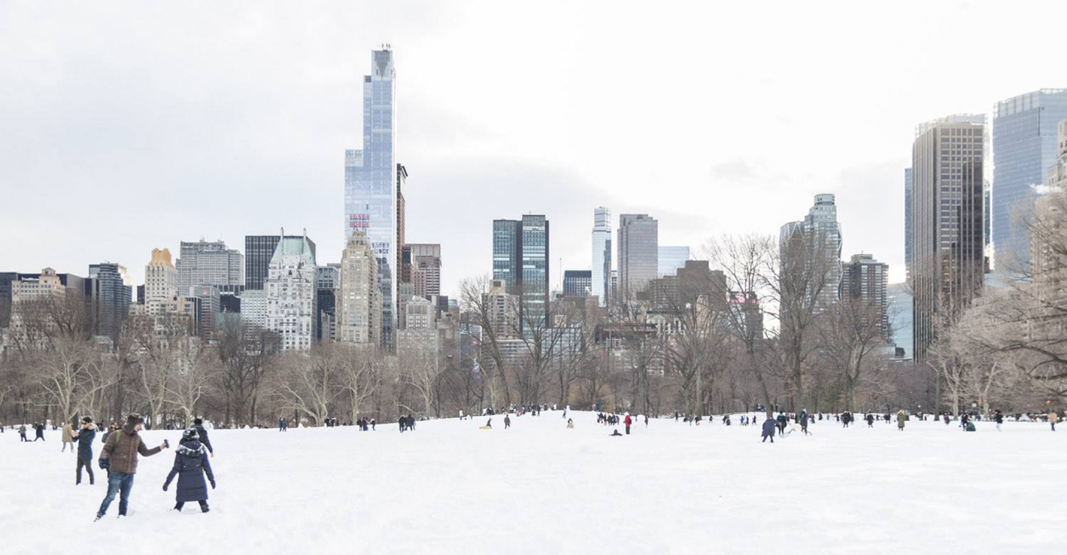 Central Park. New York covered in snow. Photography © Montse Zamorano