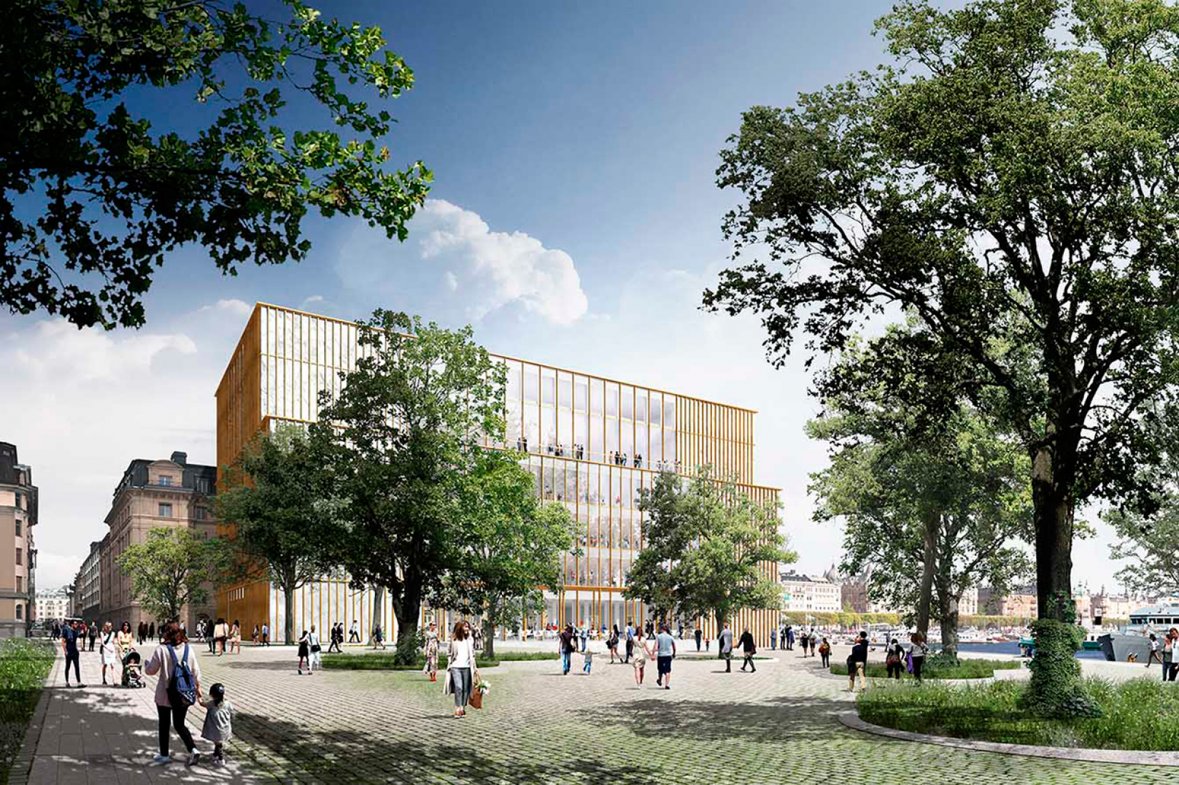 David Chipperfield's new modified version of Nobel Center. Image courtesy of David Chipperfield Architects.