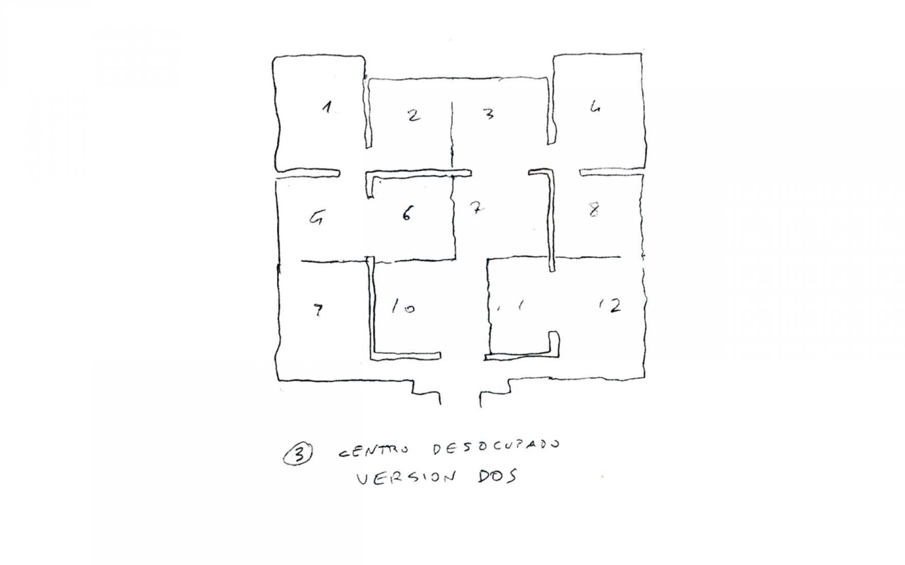 Esquemas previos, Iñaki Ábalos. El laberinto de laberintos. Pabellón Español en la Bienal de Arquitectura de Venecia 2014. Imagen © cortesía de equipo del comisariado.