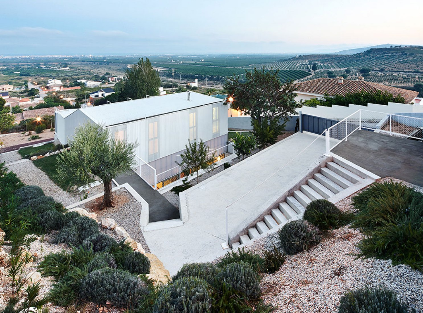 Aerial View. Seasonless House by SIC, Irene Castrillo and Mauro Gil-Fournier. Image © José Hevia.
