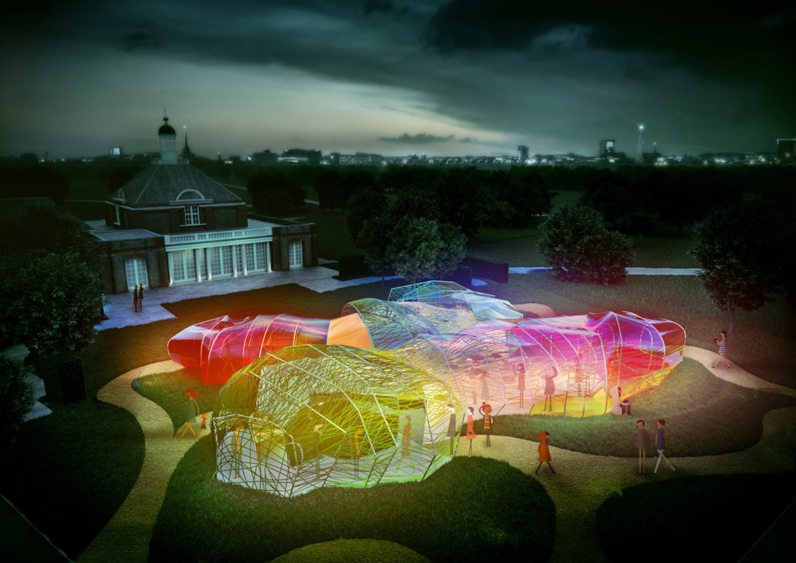 2015 Serpentine Pavilion designed by SelgasCano 2015 Indicative CGI © Steven Kevin Howson / SelgasCano