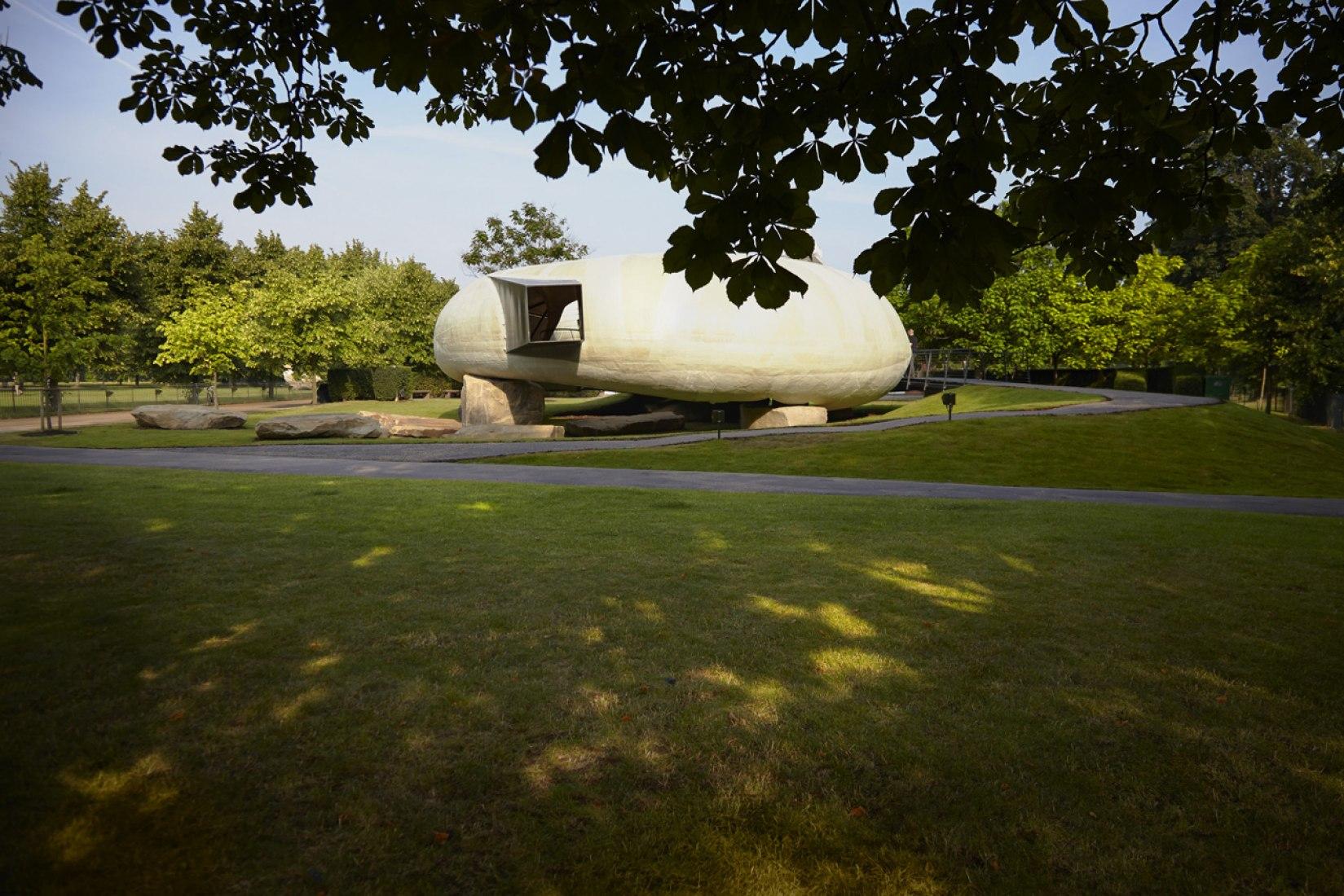 Serpentine Gallery Pavilion 2014. Designed by Smiljan Radić. Photograph © John Offenbach. Courtesy of  Serpentine Gallery.