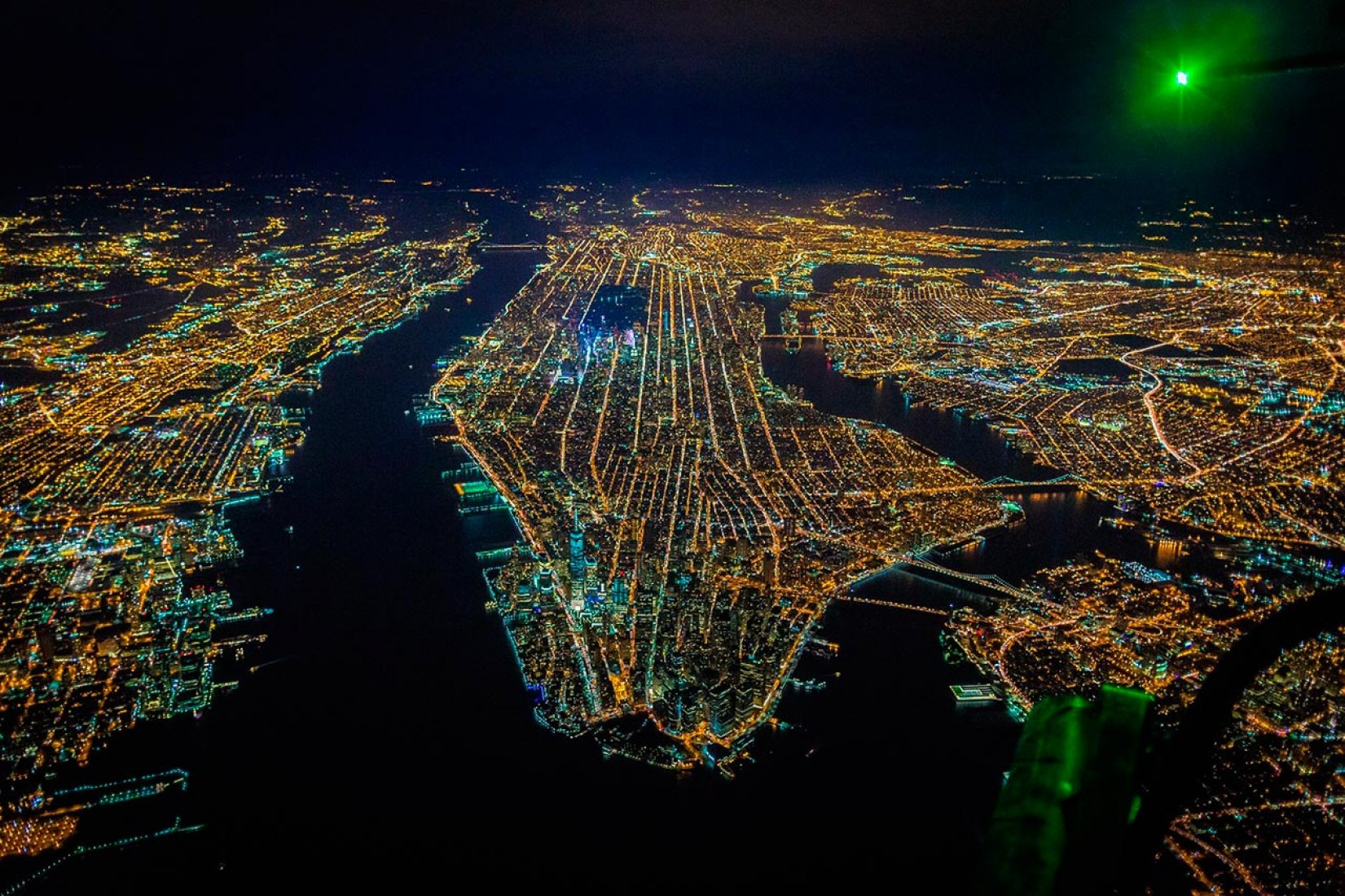 Aerial view of New York. Photograph © Vincent Laforet.