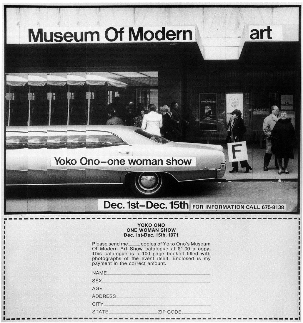 Sala 306. Anuncio para Museo de (Pedorre)arte Moderno (Advertisement for Museum of Modern (F)Art), 1971. Cortesía de Museo Guggenheim de Bilbao.