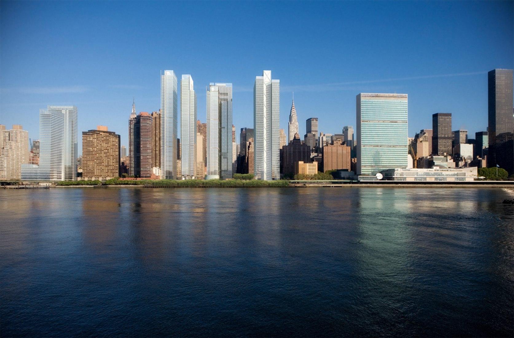 East River Master Plan, New York, NY. Fotografía © Richard Meier & Partners Architects LLP. Richard Meier & Partners. Complete Works 1963-2013. Imagen cortesía de TASCHEN.