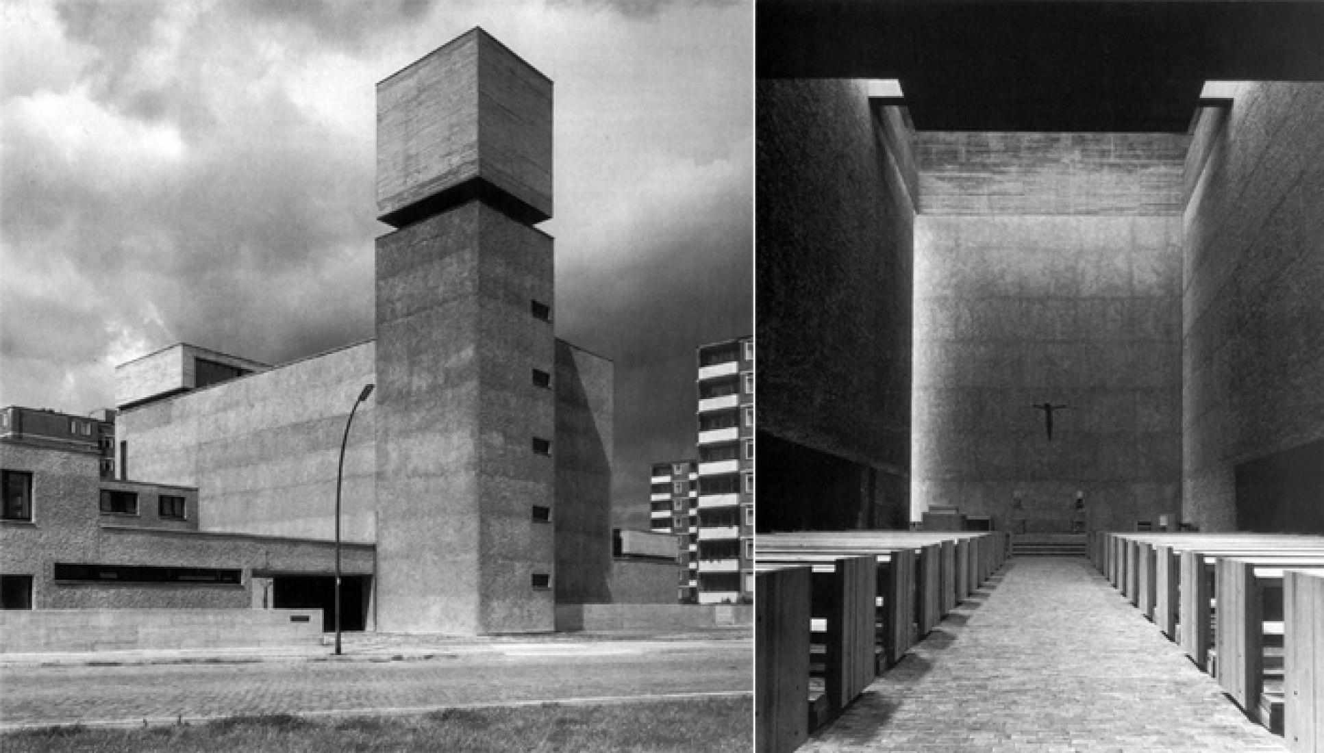 Werner Düttmann, St. Agnes Kirche, Berlin (1964-67), Haila Ochs, Werner Düttmann. Verliebt ins Bauen. Architekt für Berlin 1921 – 1983, Basel/Berlin/Boston 1990, S. 131, 12: S. 135.