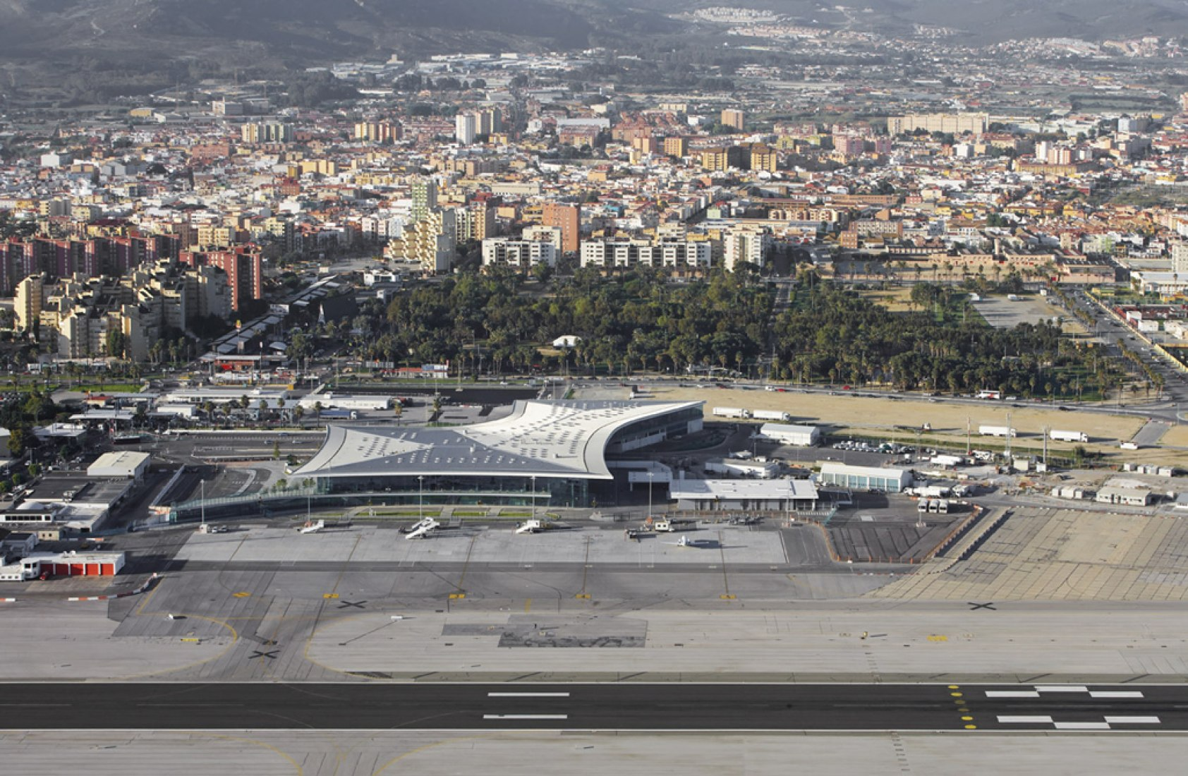 Location of Gibraltar Airport Terminal by bblur architecture with 3DReid. Photography © Hufton + Crow. Courtesy of Daniel Bérubé.