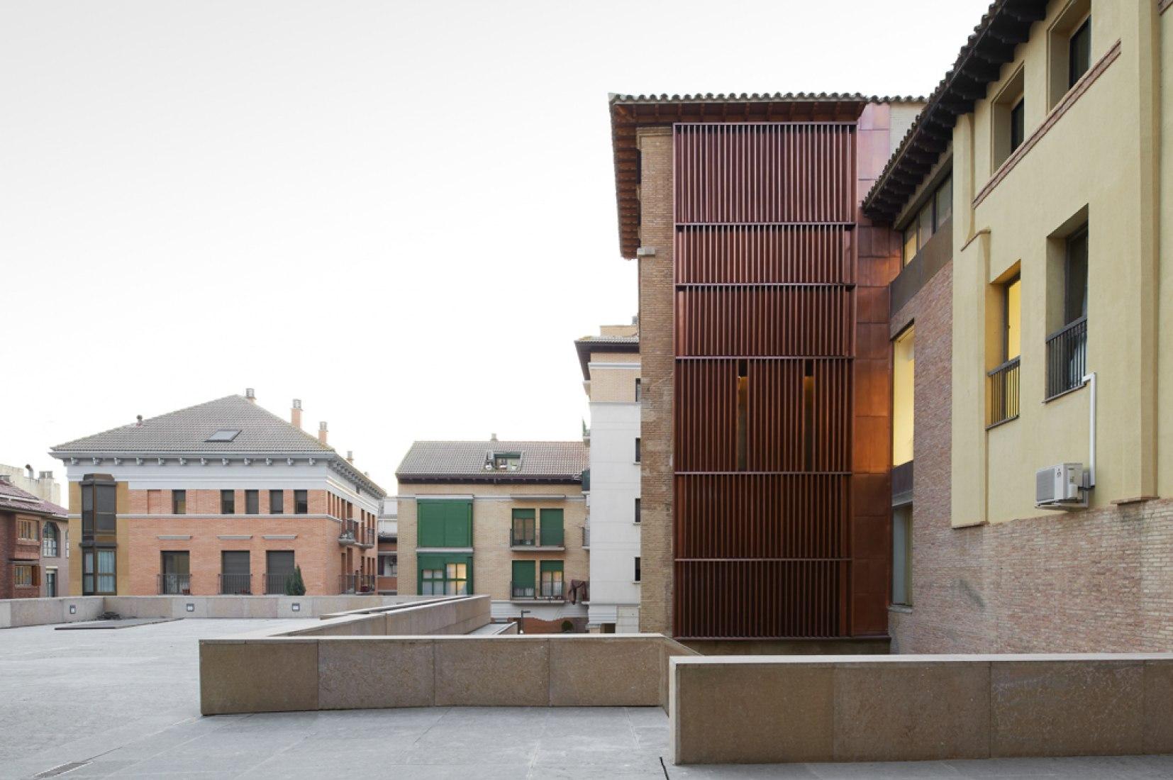 Rehabilitación del Archivo Histórico de Huesca. Fotografía © Iñaki Bergera. Cortesía de ACXT.