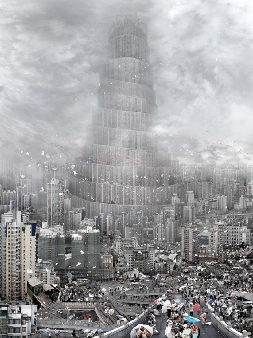 Winds, 2010. Collage, by Du Zhenjun. Courtesy of CaixaForum Madrid.