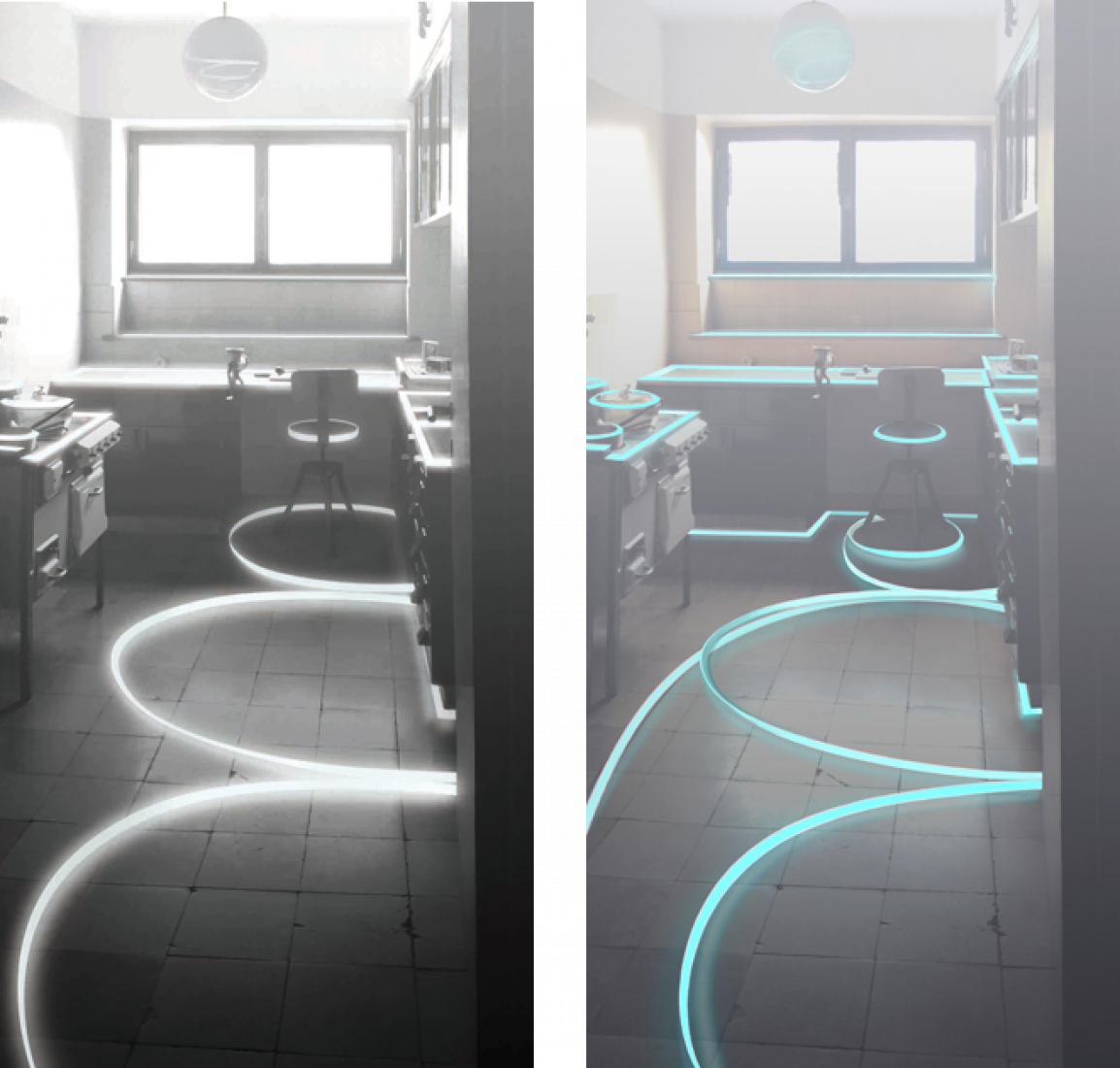 Ganz Licht und frei in der Frankfurter Küche. Por Darya von Berner.
