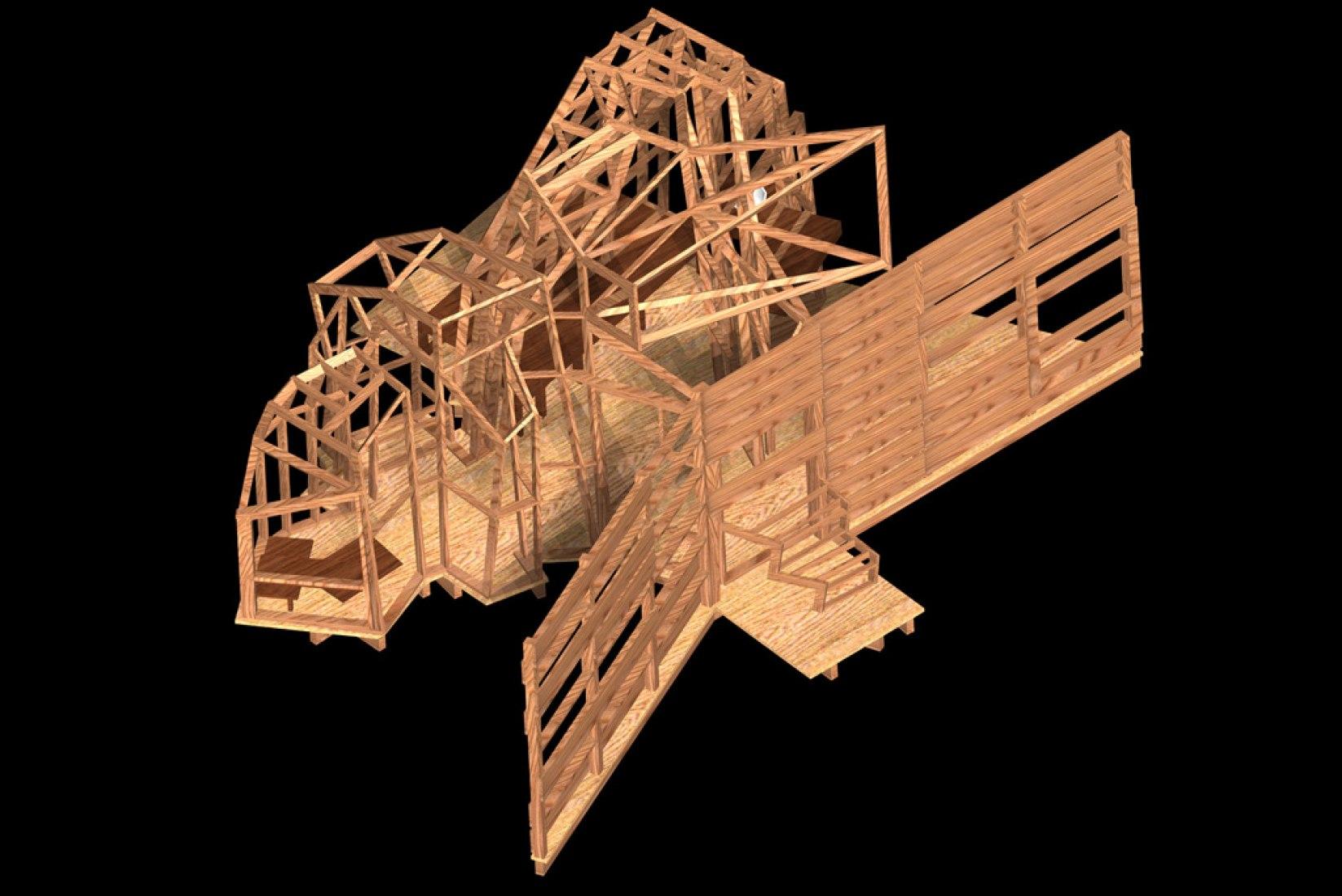 Maqueta. Casita para un Kolonihaven. EMBT, 1996. Cortesía de EMBT.