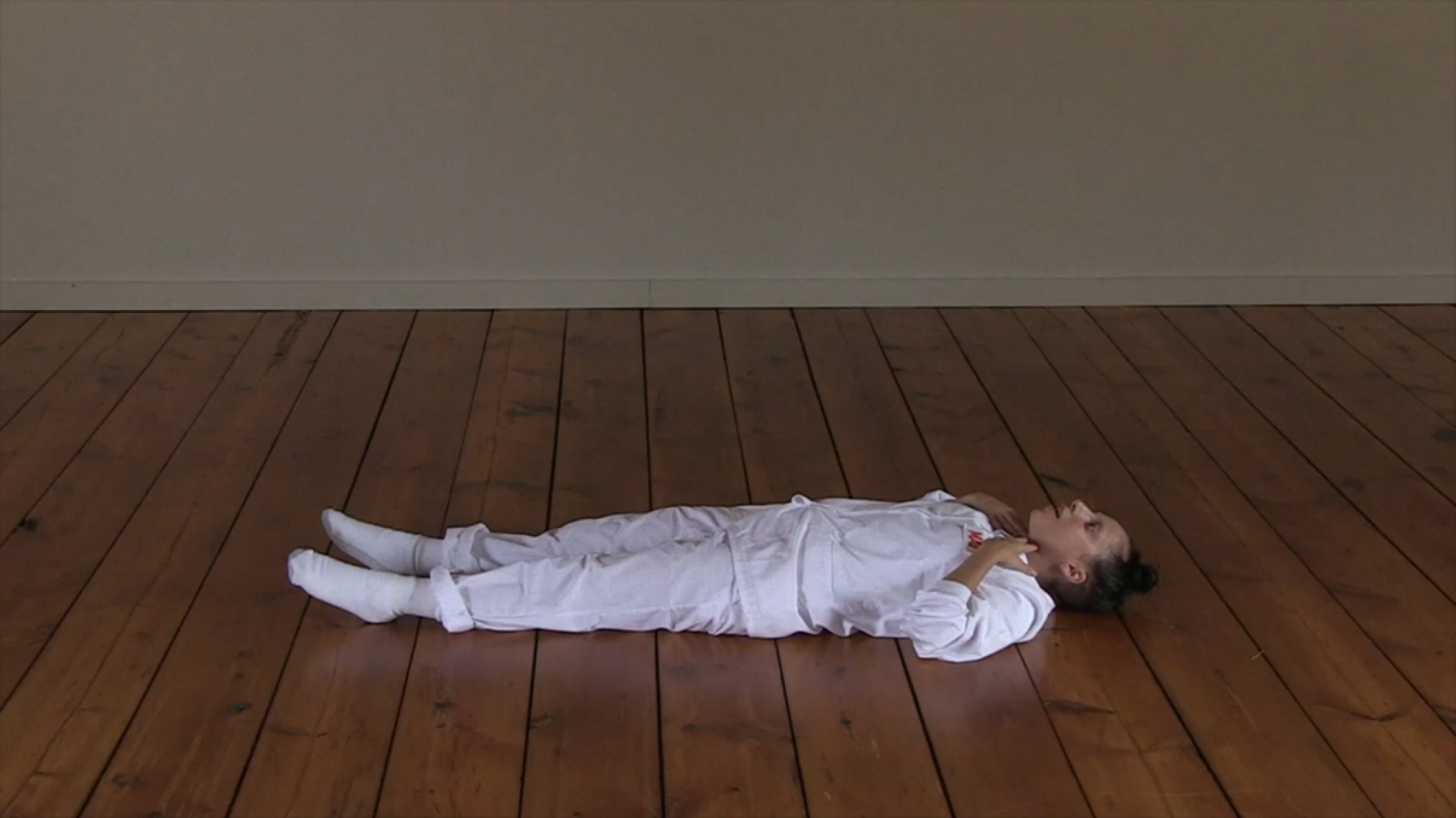 Video screenshot. The Abramovic Method Practiced by Lady Gaga.