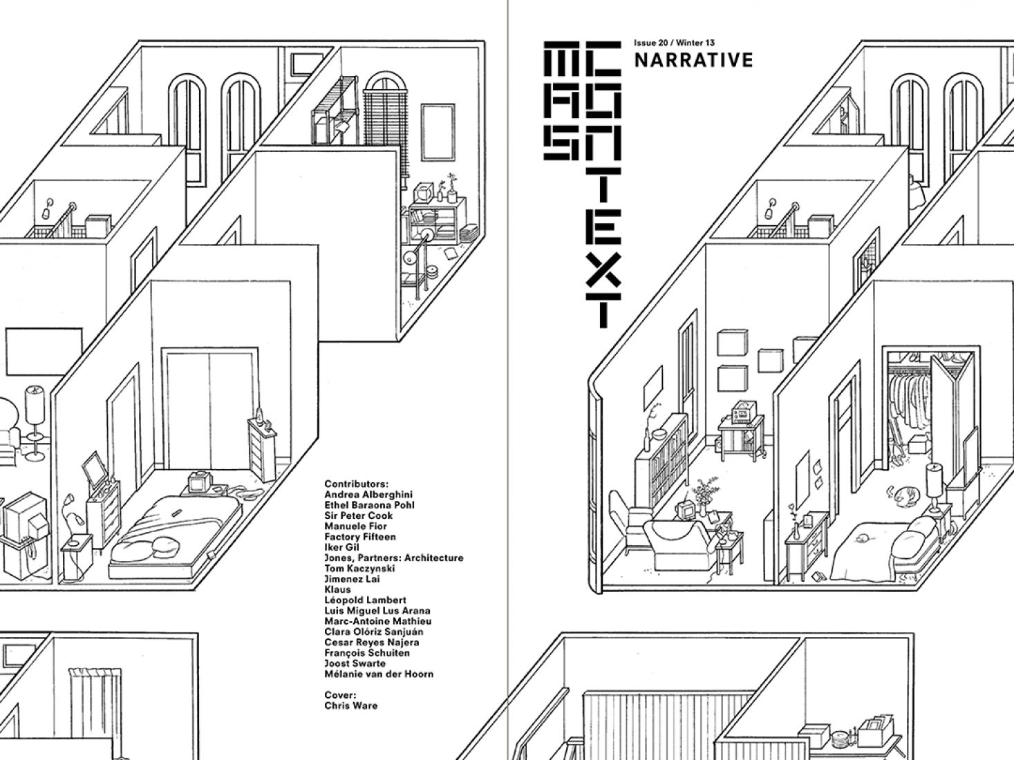 Issue 20, cover. Building Stories (Detail) © Chris Ware. MAS Context.