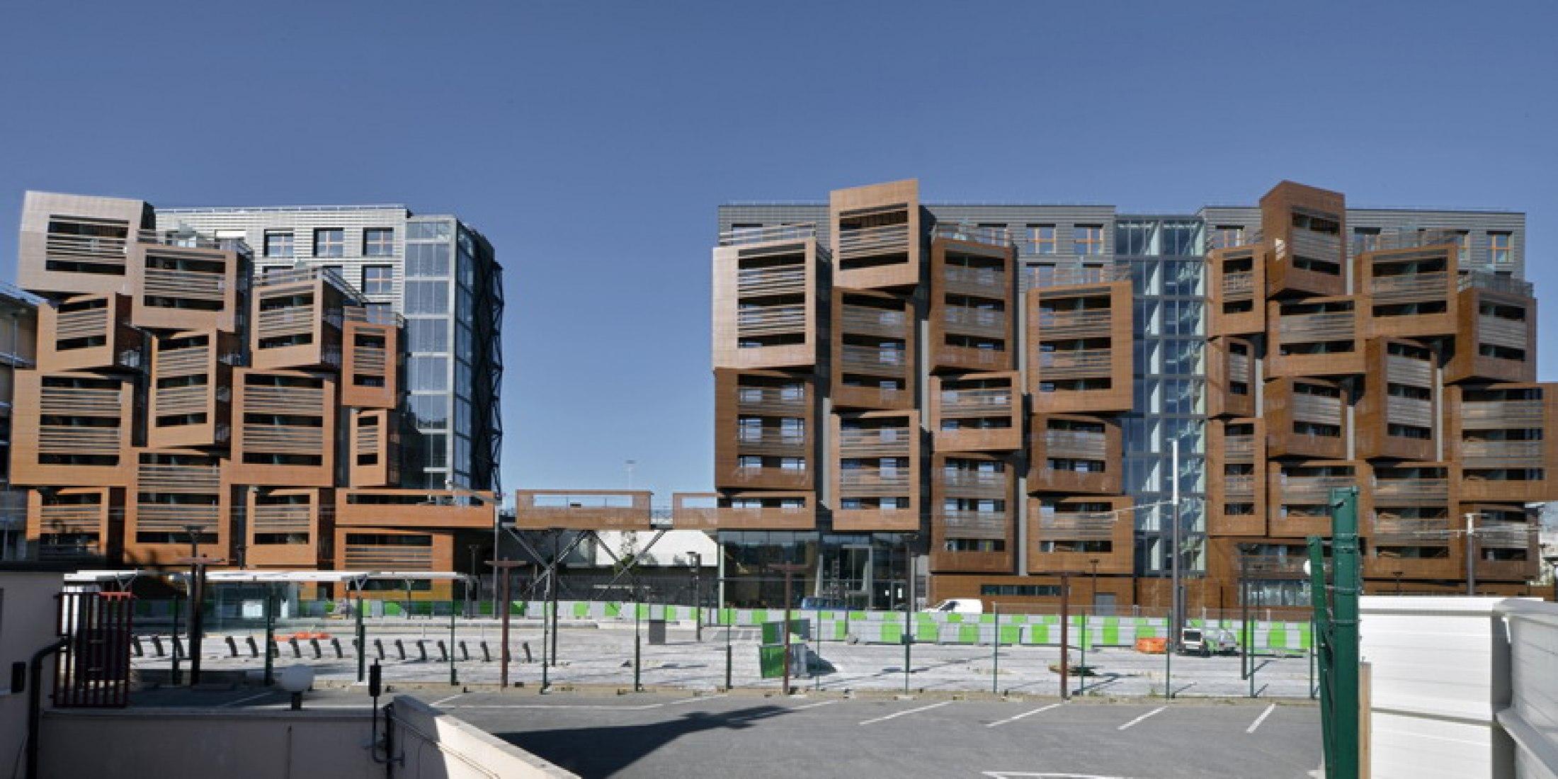 Apartamentos Basket por OFIS arhitekti. Fotografía @ Tomaz Gregoric.