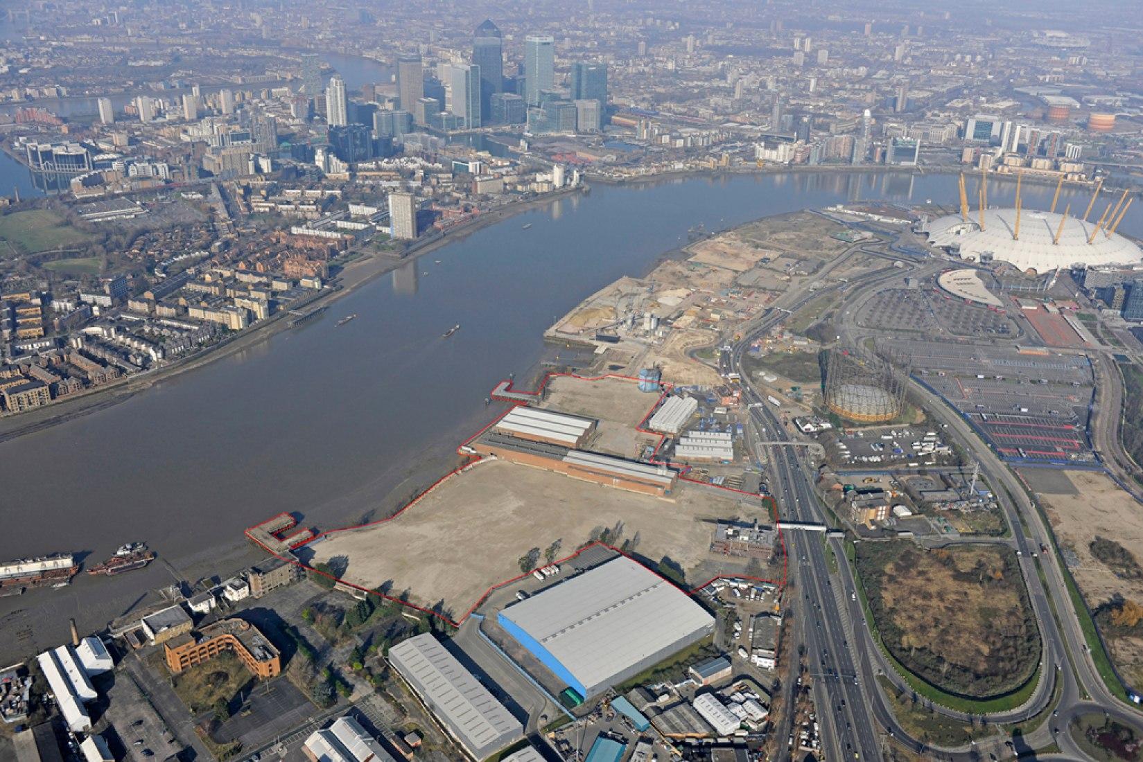 Vista general, Morden Wharf. Imagen © cortesía de Cathedral Group.
