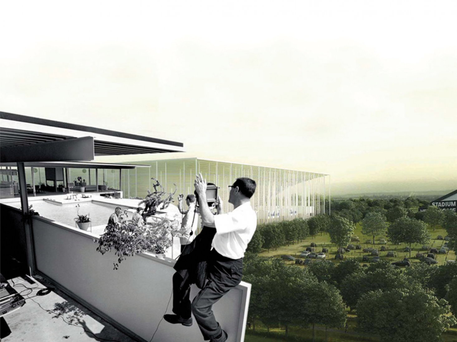 OMA's vision for Bordeaux. Image courtesy of © Arc en Rêve.