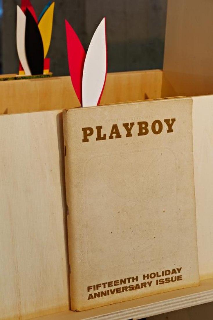 Portada de un número de Playboy. Exposición: Playboy Architecture 1953-1979.