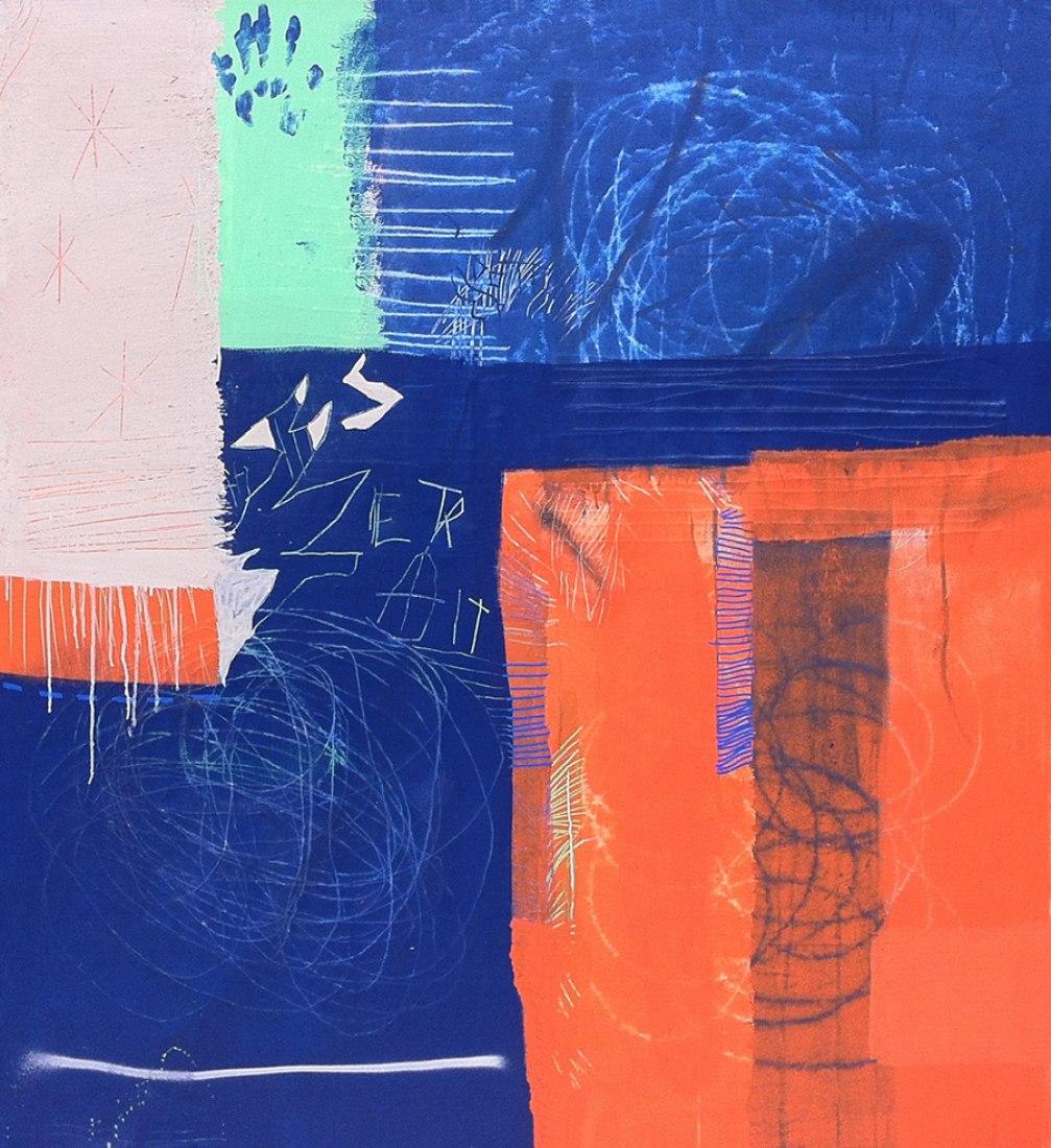 Extrarradio, 150 x 162 cm. Acrílico sobre lienzo, 2013. Fotografía © Maíllo. Cortesía de PONCE + ROBLES.