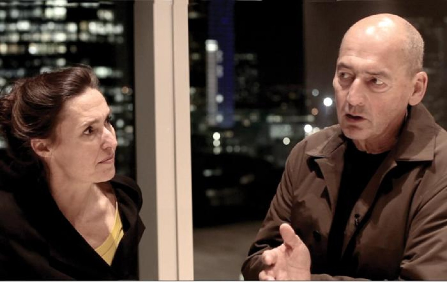 Ellen Van Loon and Rem Koolhaas.