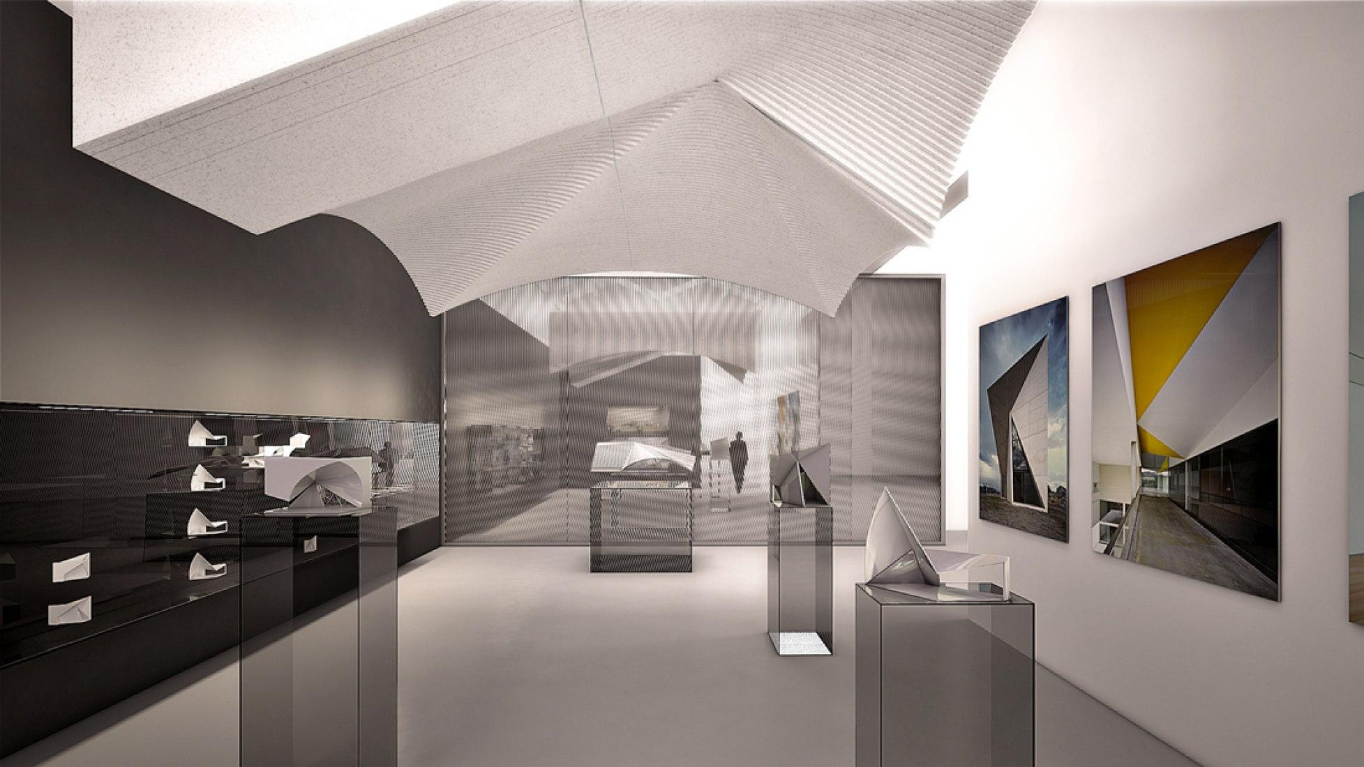 Instalación de Sol Madridejos y Juan Carlos Sancho (SMAO Sancho-Madridejos Architecture Office) en el Pabellón Español de la Bienal de Arquitectura de Venecia