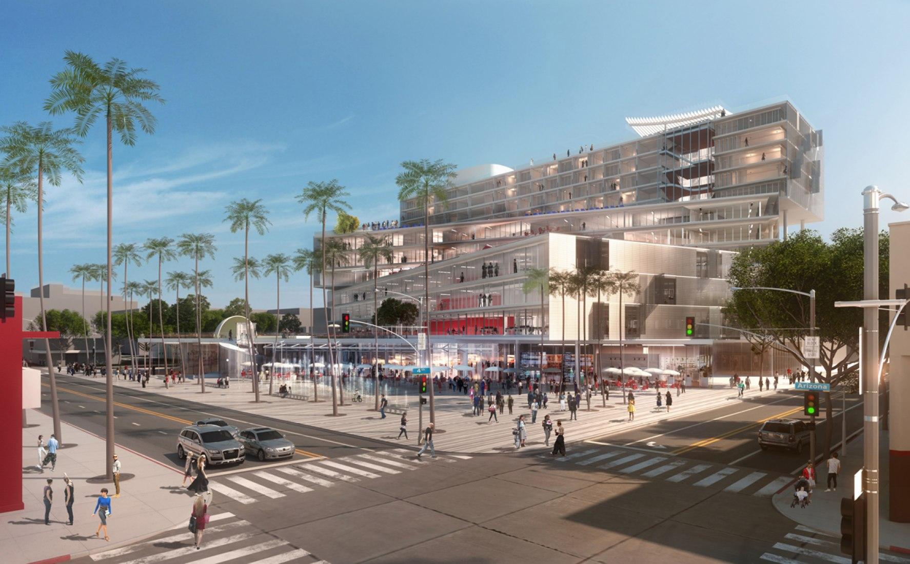 La Plaza de Santa Monica, OMA en Santa Mónica. Imagen © OMA.