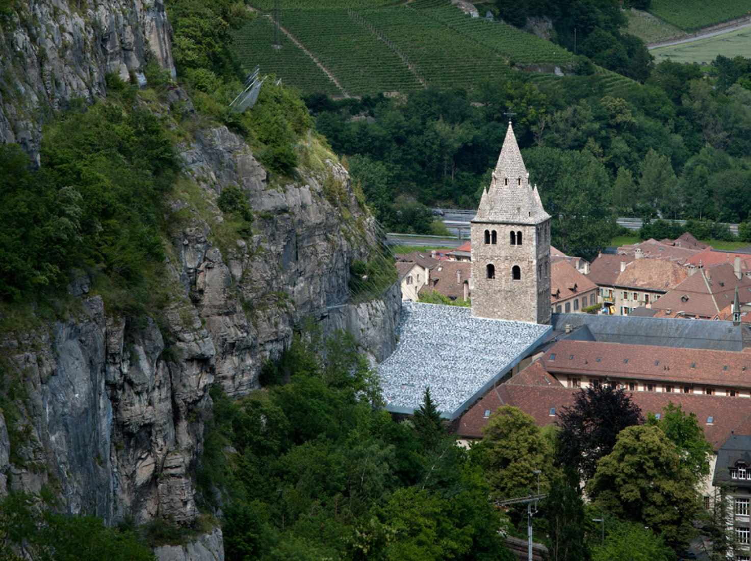 Abadía de St Maurice. Savioz Fabrizzi Architectes. Fotografía © Thomas Jantscher.