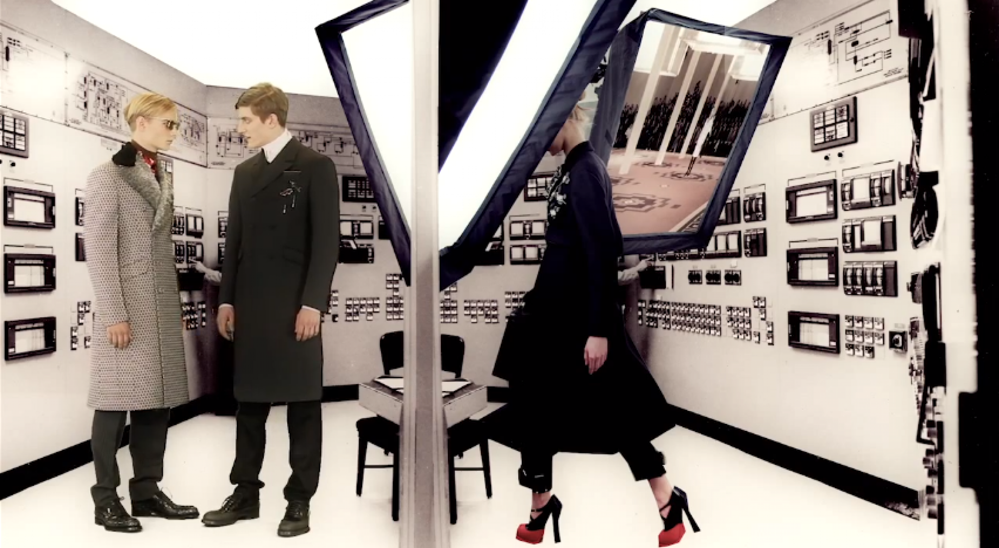 Video screenshot. Prada Real Fantasies Fall Winter 2012.