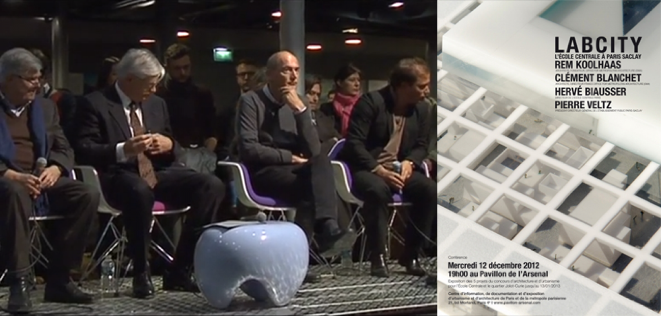 Ecole Centrale conference with Rem Koolhaas and Clement Blanchet