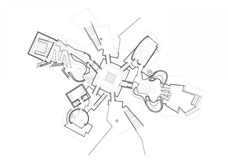 Planta baja. Biomuseo para Panama por Frank Gehry Architects.loor plan, Biomuseo, Panama. Frank Gehry Architects.