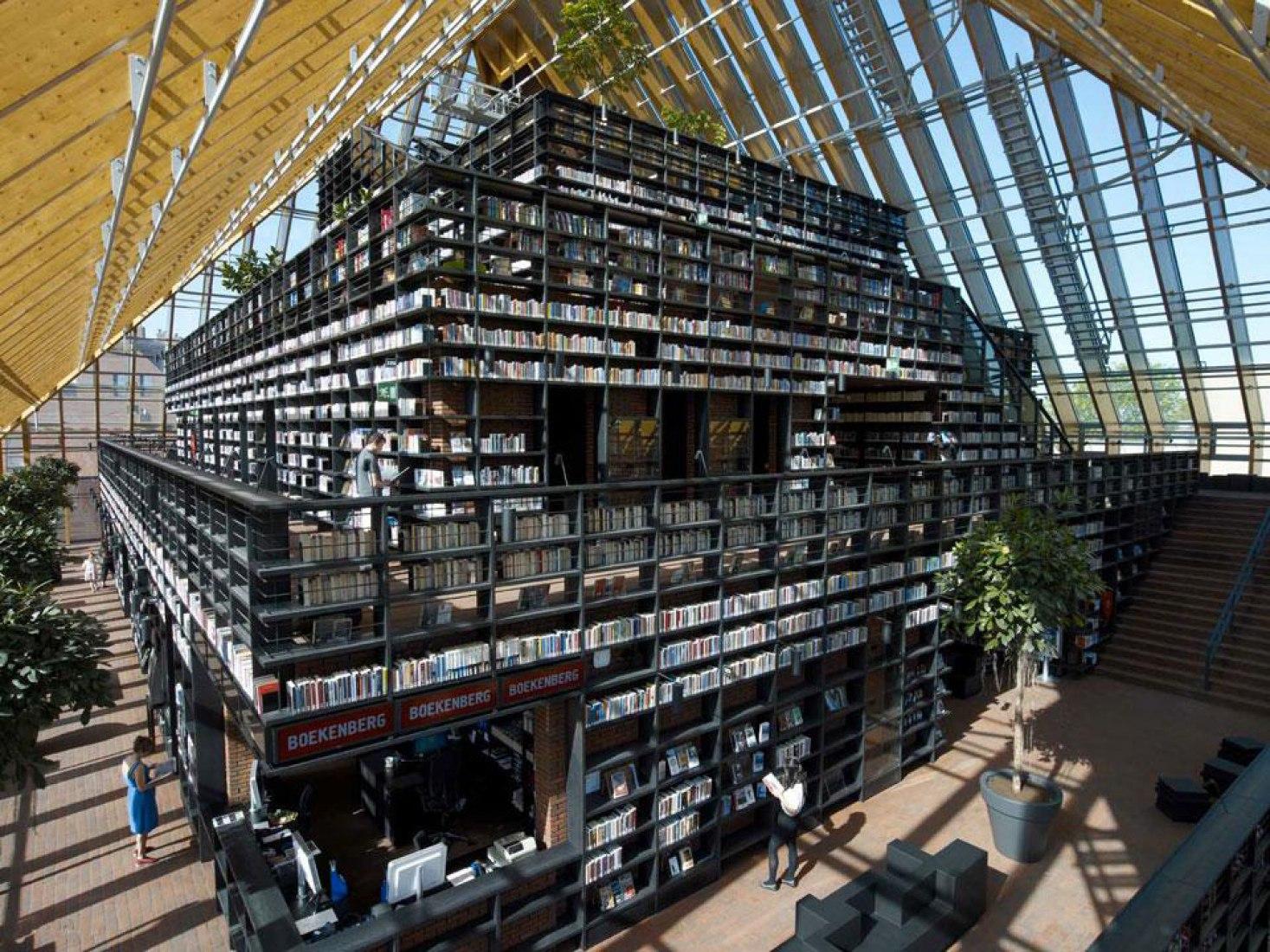 Library Interior view. Photography by Jeroen Musch and Jonas Klok (MVRDV). Courtesy of MVRDV.