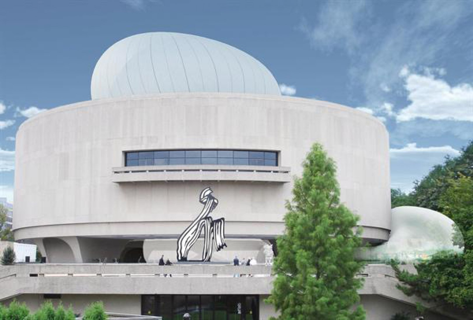 Exterior view project. The Hirshhorn Bubble project by Diller Scofidio & Renfro.
