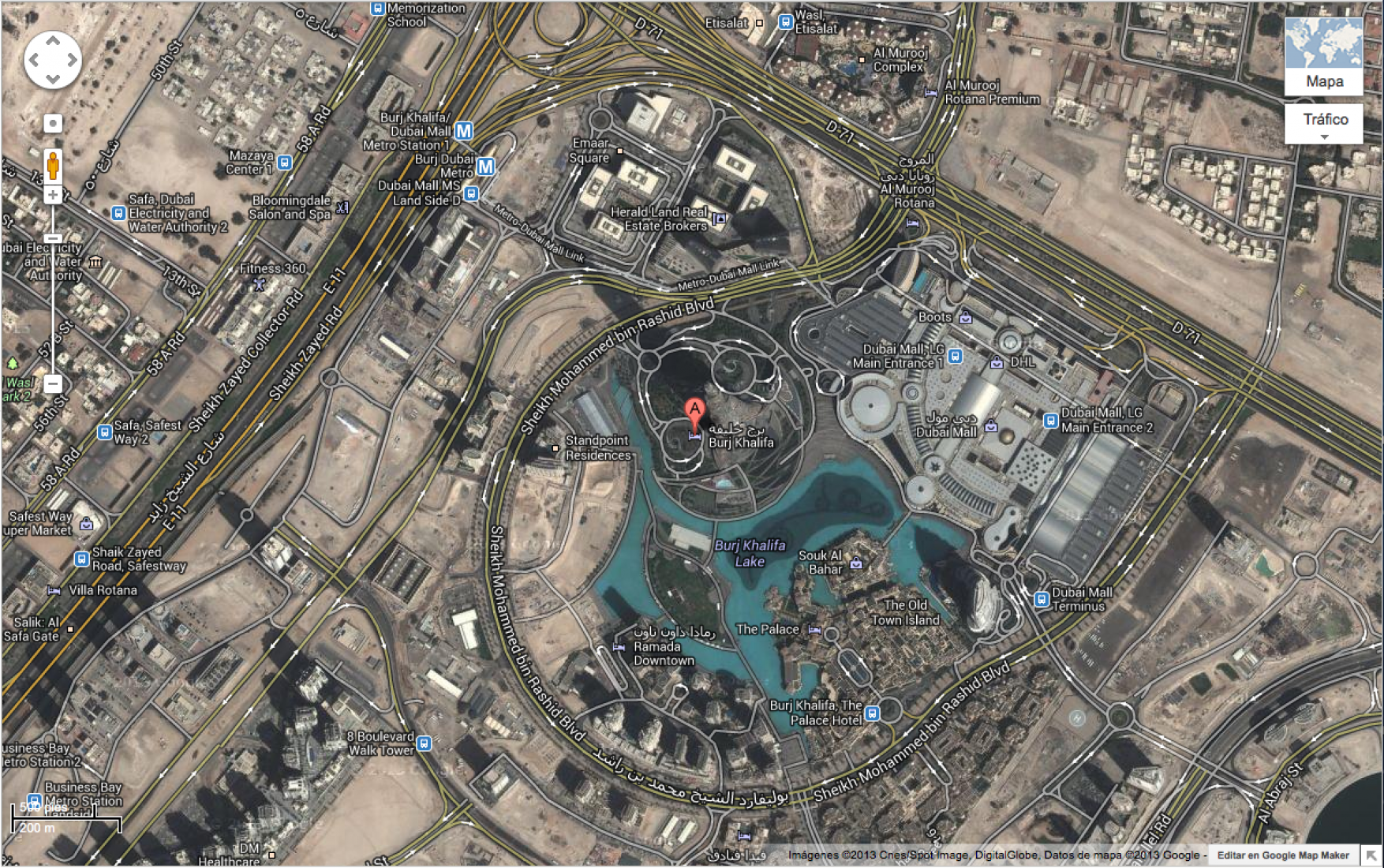 Burj Khalifa, video screenshot. Google Street View