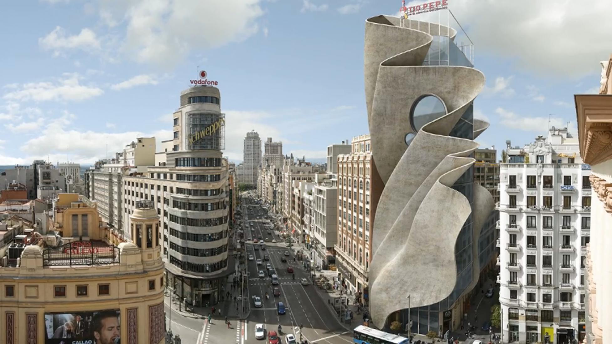 Gran Vía por Dionisio González. Corte de vídeo.