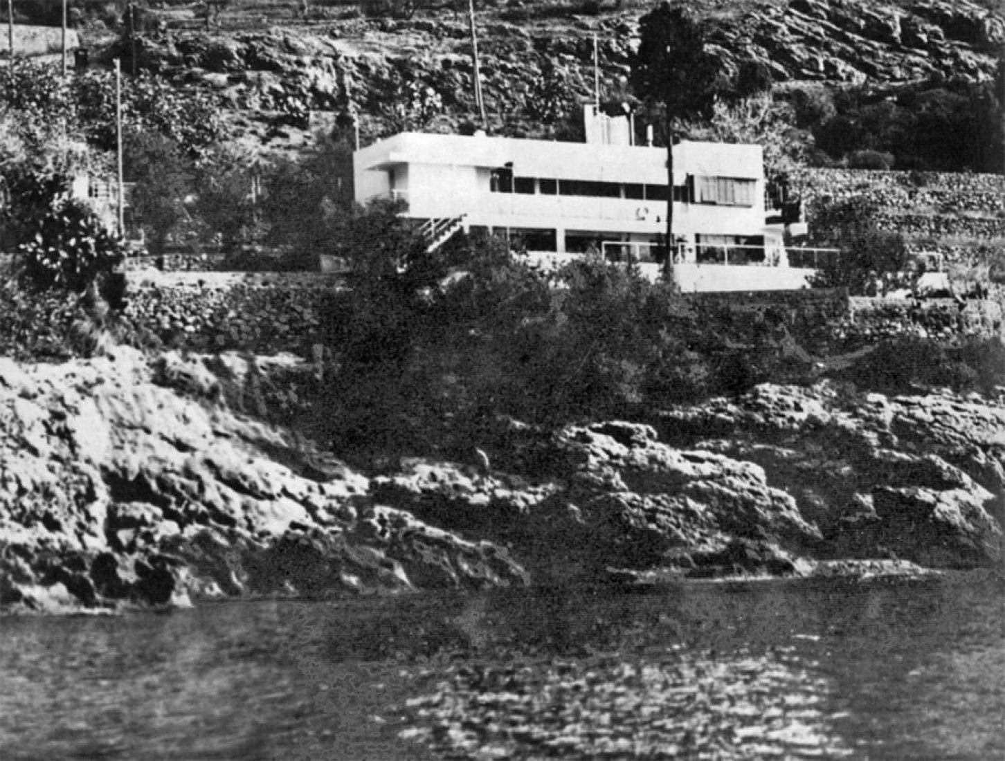 Villa E1027 desde el mar en 1929, Eileen Gray. © Eileen Gray Archives.