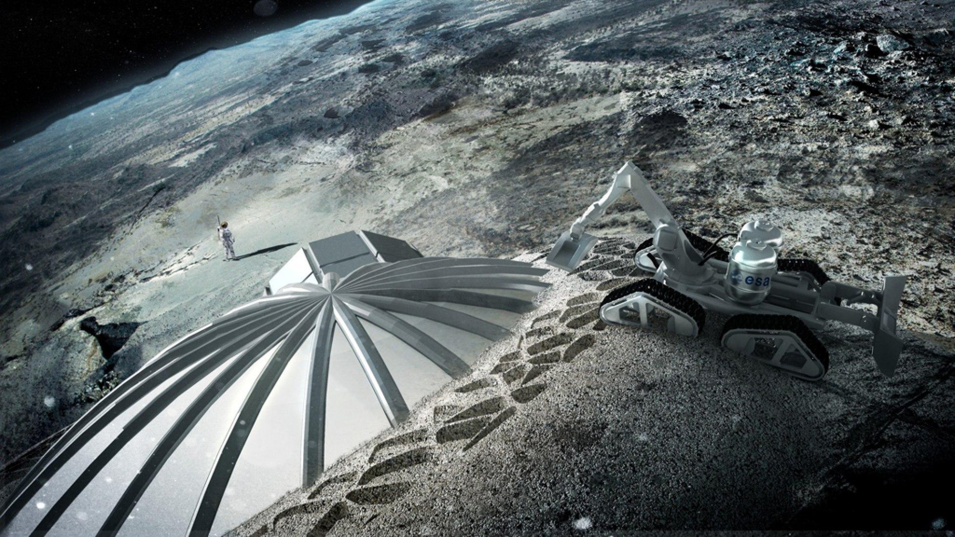 Base construida con Multi-cúpulas. Por ESA y Foster + Partners.