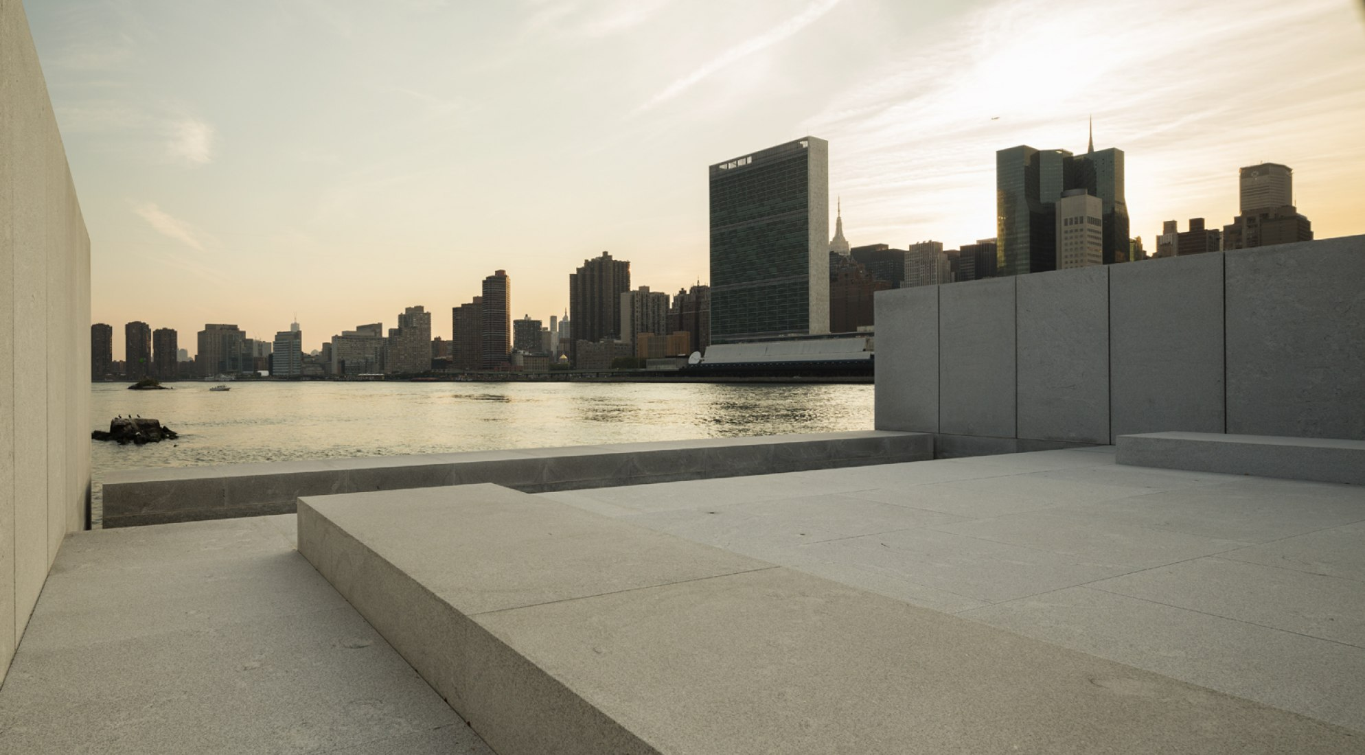 Franklin D. Roosevelt Four Freedoms Park. Design by Louis Kahn. Photography © Paul Warchol.