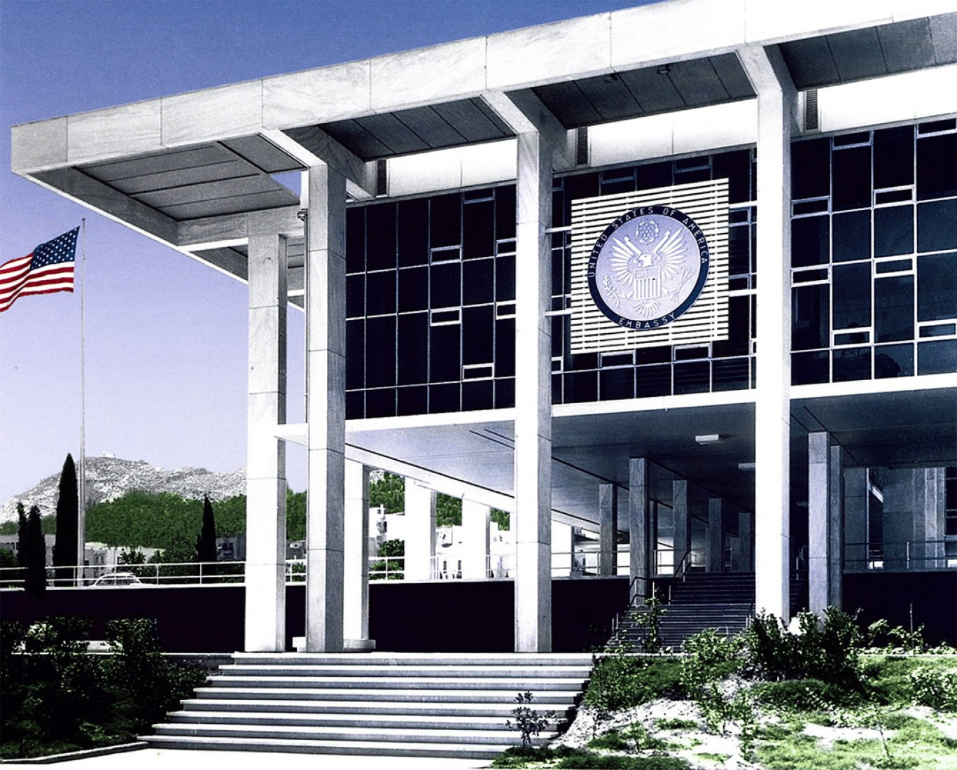 Photo of the Embassy of the United States in Athens, Greece (Photo courtesy U.S. Department of State Bureau of Overseas Buildings Operations).