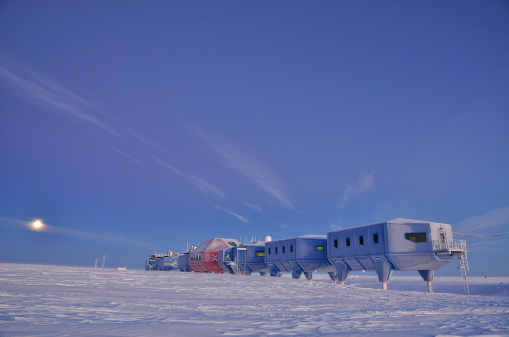 Halley VI Antarctic Research Station, by Hugh Broughton Architects.