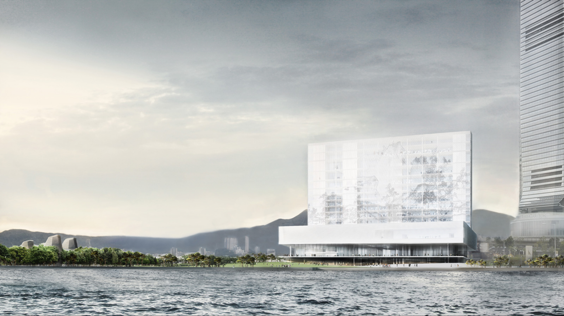 M+ museum in Hong Kong, by Herzog & de Meuron. Courtesy of West Kowloon Cultural District Authority