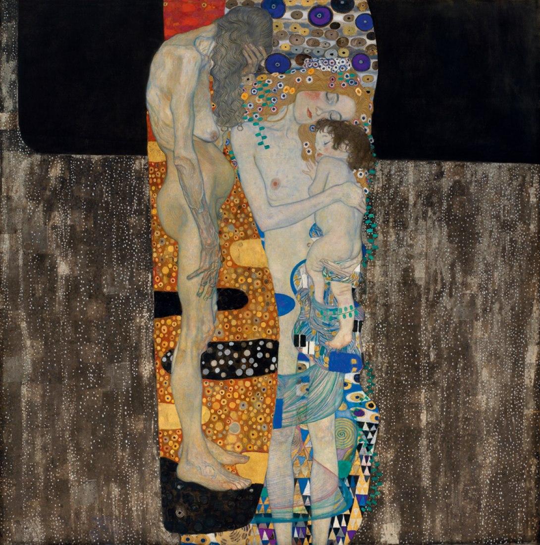 Las tres edades de la mujer, 1905. Óleo sobre lienzo, 180 x 180 cm / 70  x 70  in.