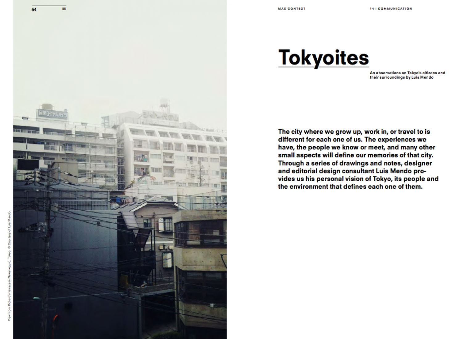 Tokyoites. Page from MAS Context 14.