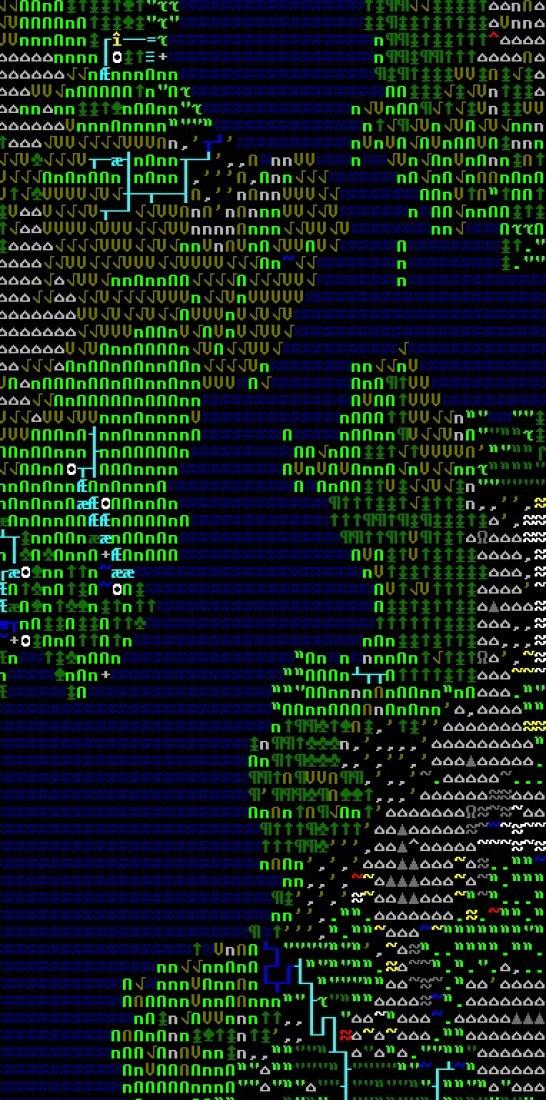 Dwarf Fortress (Detalle). Tarn Adams (Americano, nacido 1978) y Zach Adams (Americano, nacido 1975). 2006. Video game. Donación de los diseñadores. © 2012 Tarn Adams.