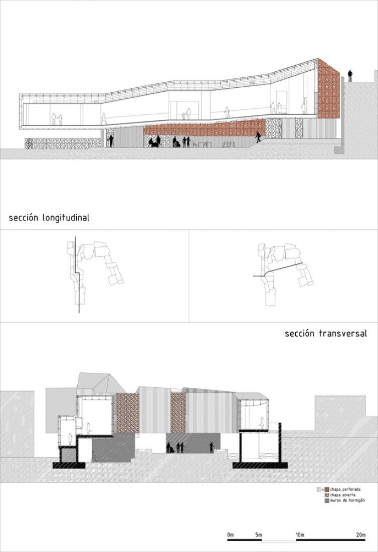 Section plans. Monteagudo Museum, by Atxu Amann, Andrés Cánovas, Nicolás Maruri.