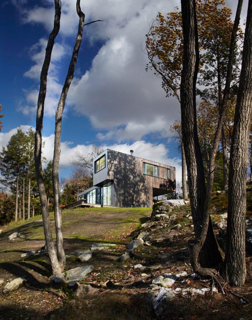 Casa en Austerlitz. Imagen exterior. Fotografía © Michael Biondo.