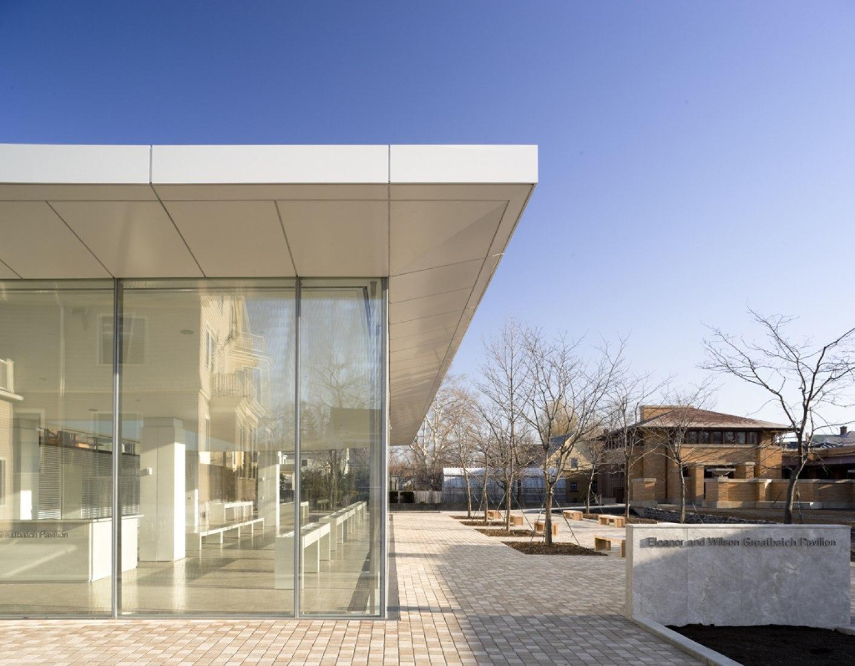 Centro de visitantes de la Darwin D. Martin House. Imagen exterior. Fotografía © Paul Warchol.