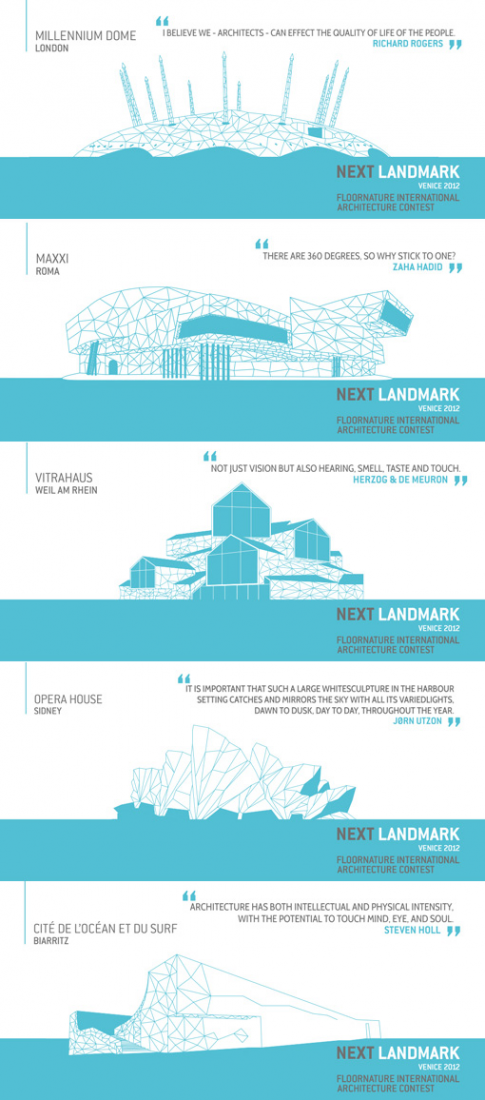 Next Ladmark: International Competition for Young Architects, Venice 2012