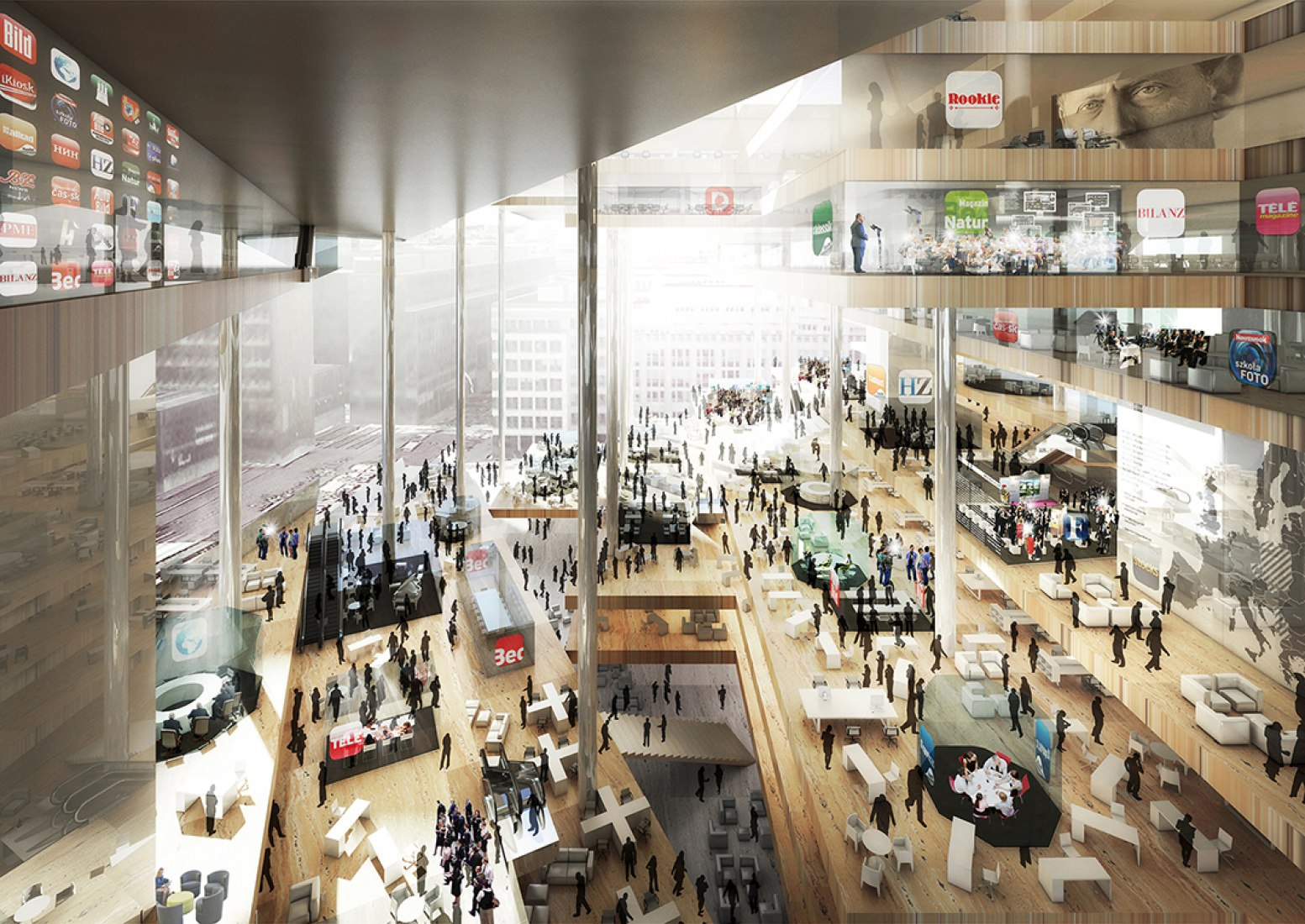OMA's proposal for the new Axel Springer Media Center. Image courtesy OMA.