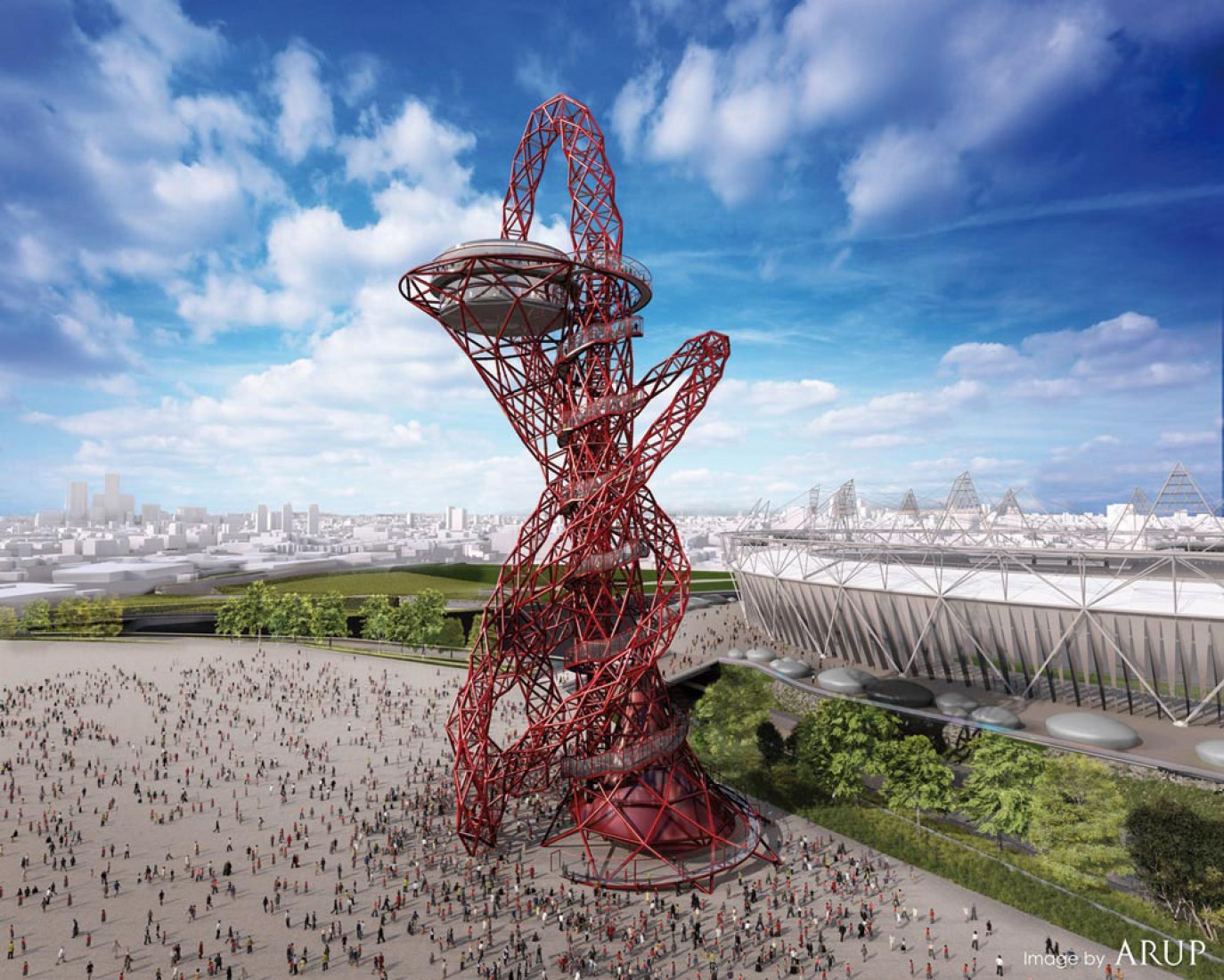 ArcellorMittal Orbit, Olympic Park, London, by Anish Kapoor and Cecil Balmond.